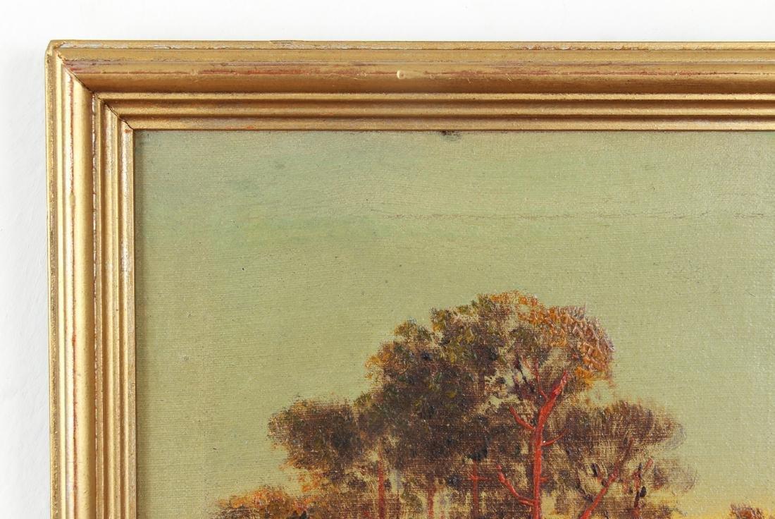 H Weber oil Victorian Landscape at Twilight - 6