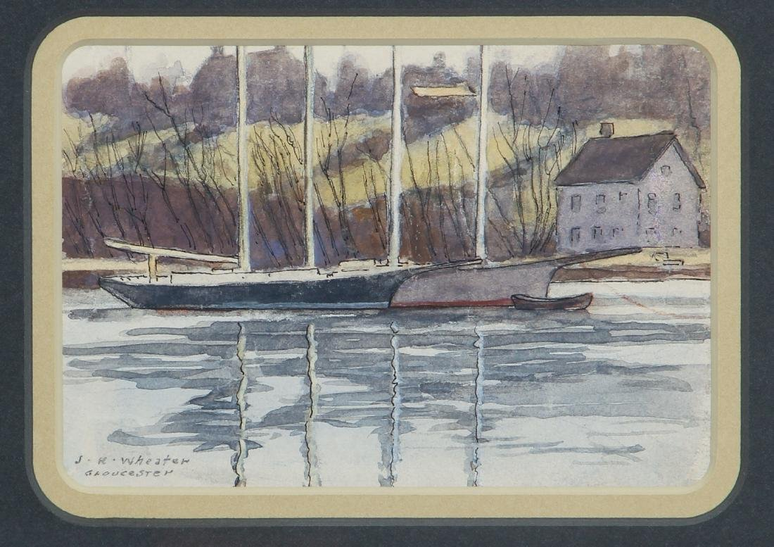 Joseph Harry Wheater watercolor of Gloucester