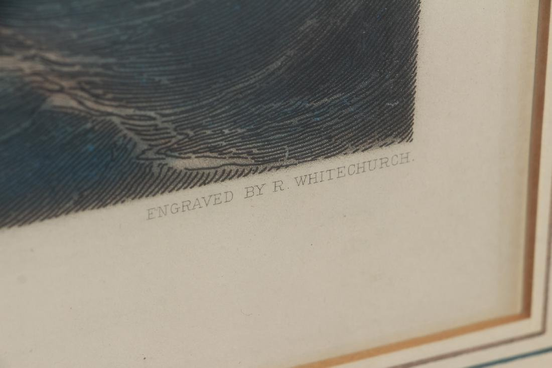 Sea Battle Colored Engraving by Whitechurch after - 4