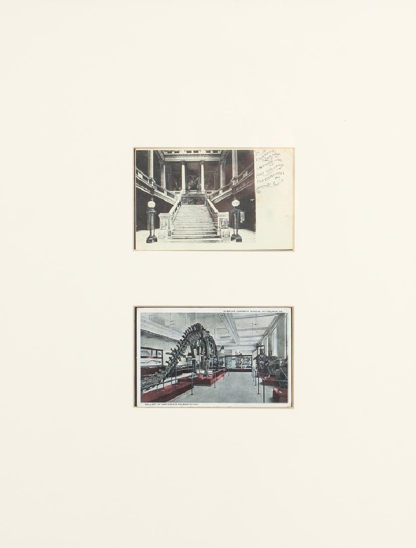 5 Frames of 10 Antique Iconic Pittsburgh Postcards - 10