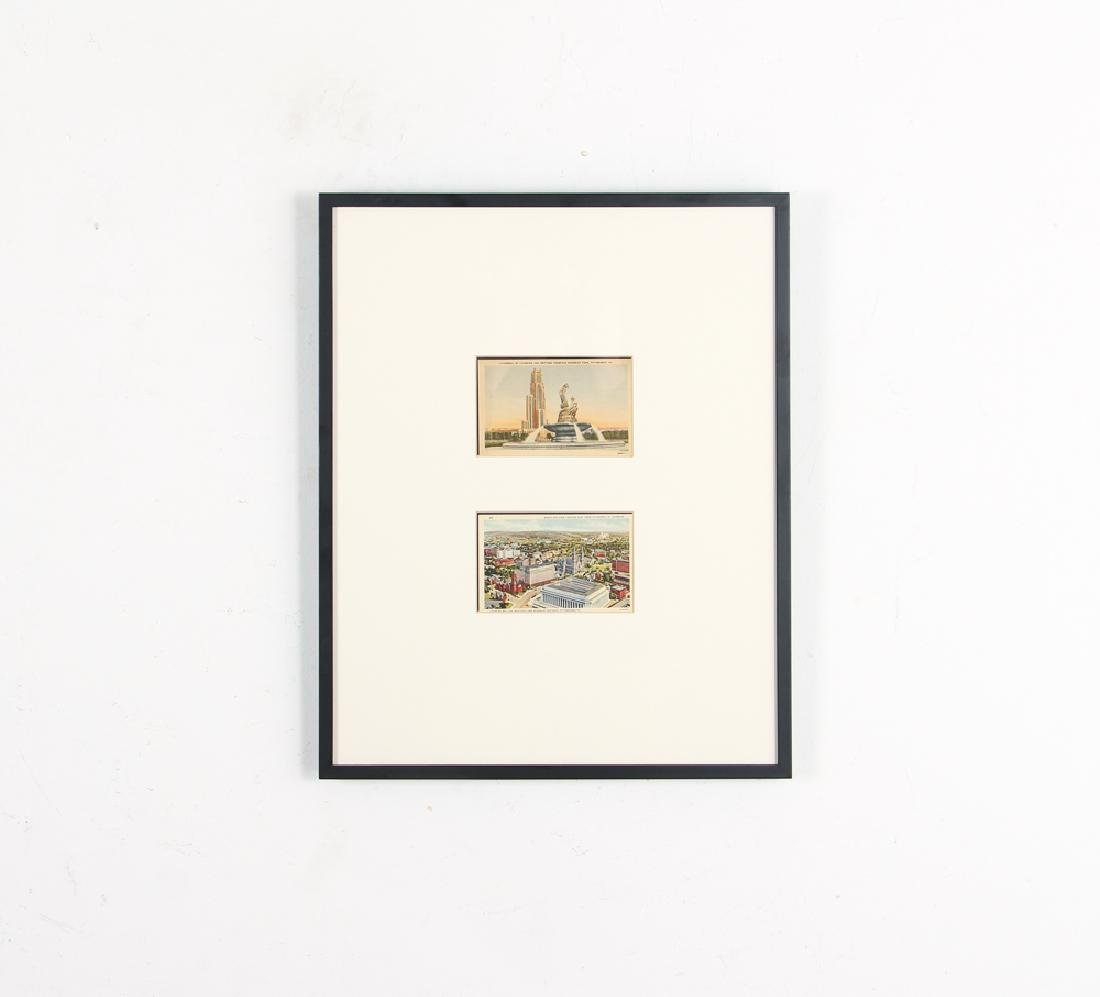 5 Frames of 10 Antique Iconic Pittsburgh Postcards - 2