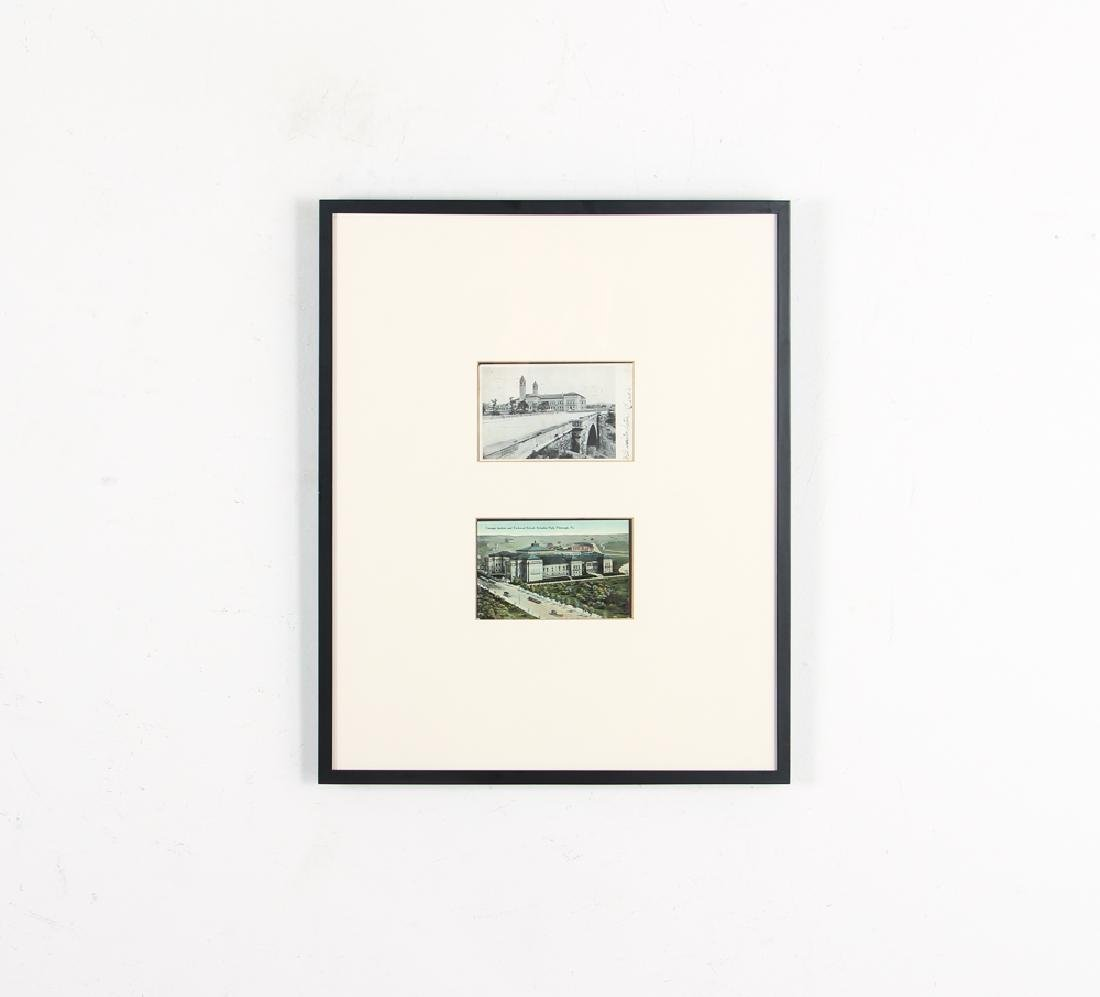 5 Frames of 10 Antique Iconic Pittsburgh Postcards - 3