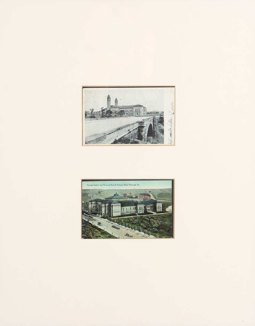 5 Frames of 10 Antique Iconic Pittsburgh Postcards - 4