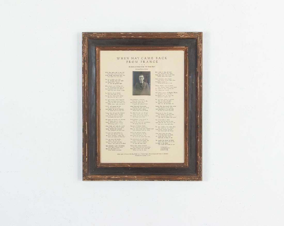 Sewickley World War One Historical Poem - 2