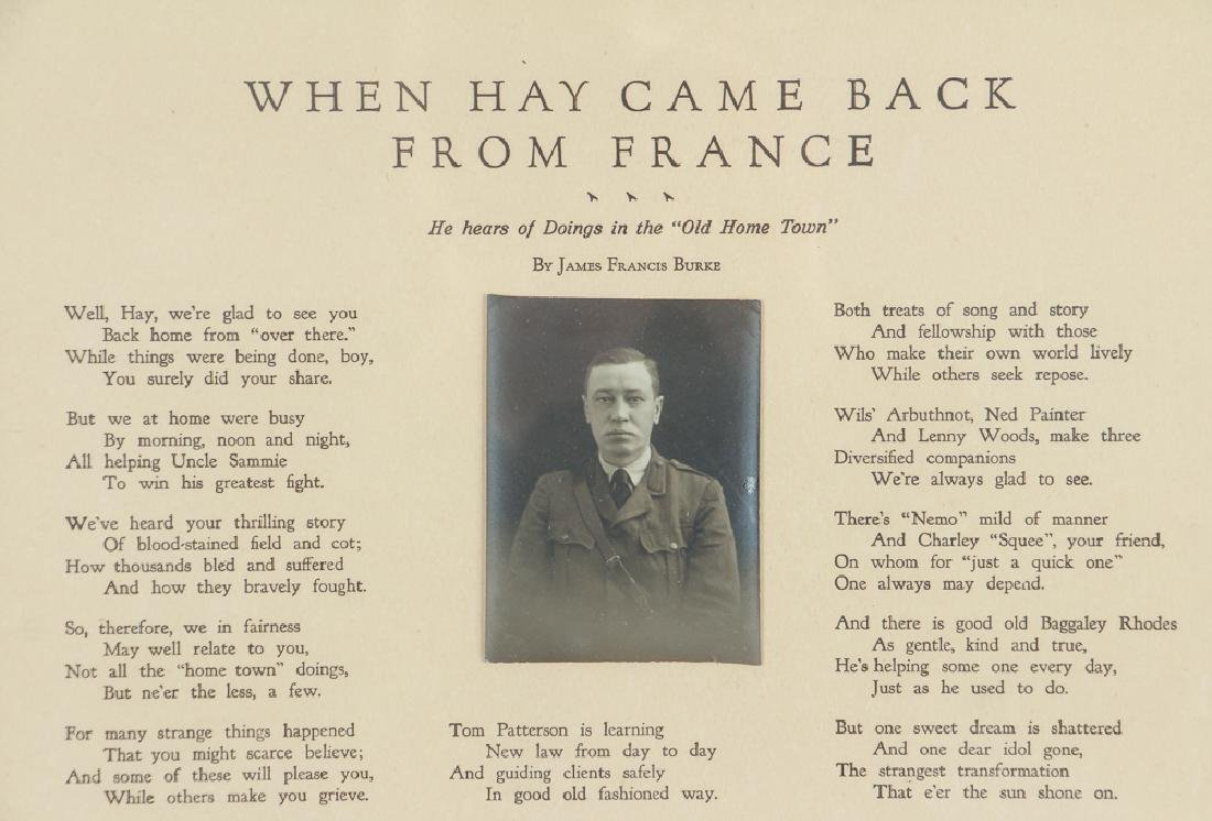 Sewickley World War One Historical Poem - 3