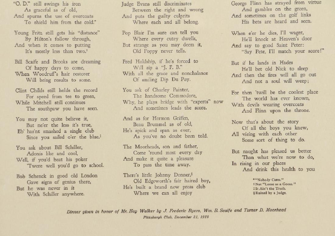 Sewickley World War One Historical Poem - 5