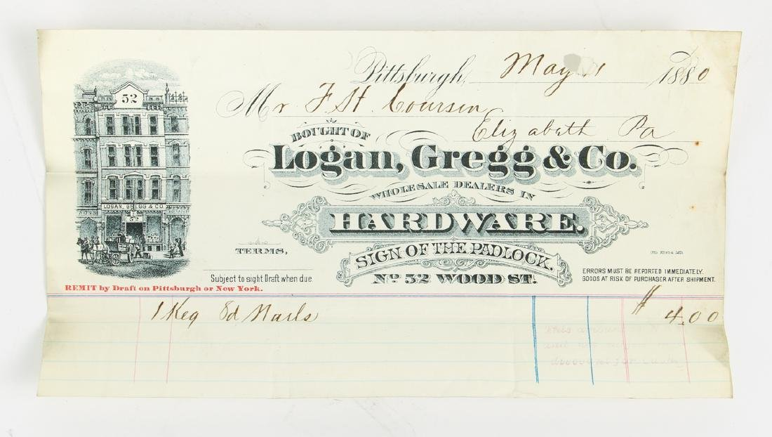 Eighteen Pittsburgh Related 19th Century Invoices - 10