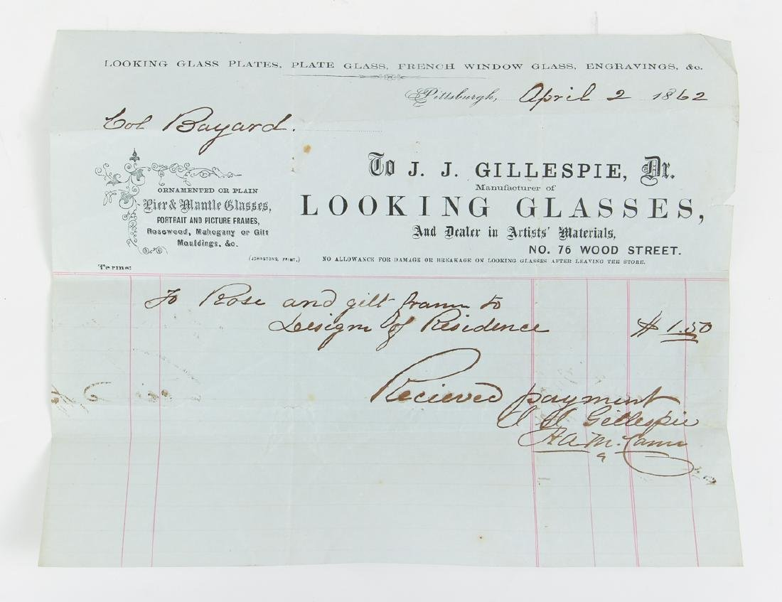 Eighteen Pittsburgh Related 19th Century Invoices - 2
