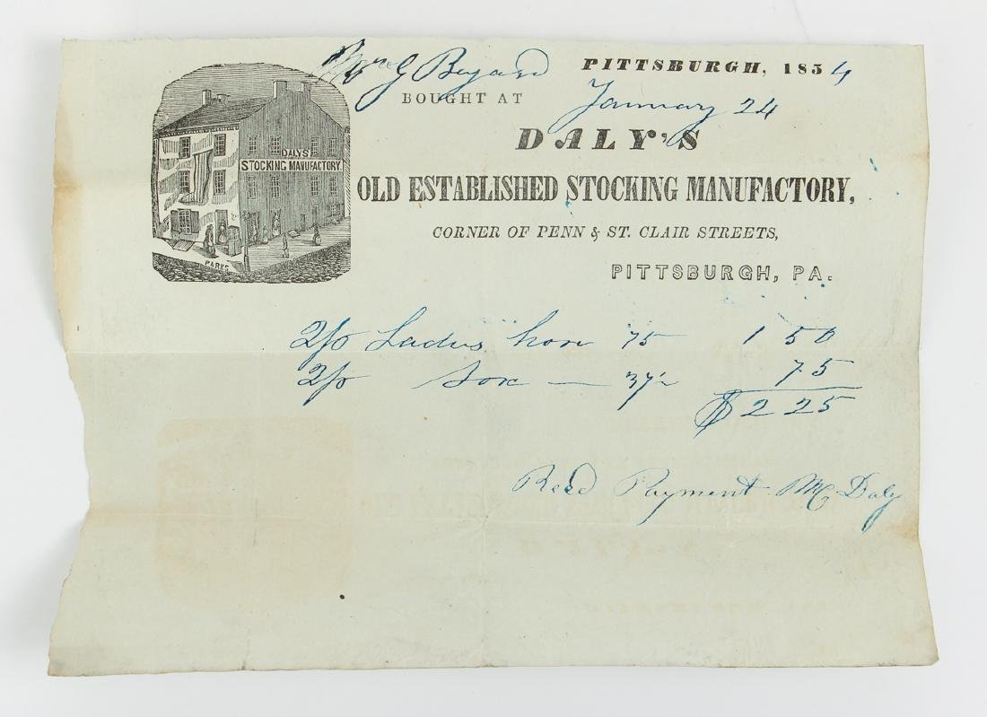 Eighteen Pittsburgh Related 19th Century Invoices - 3