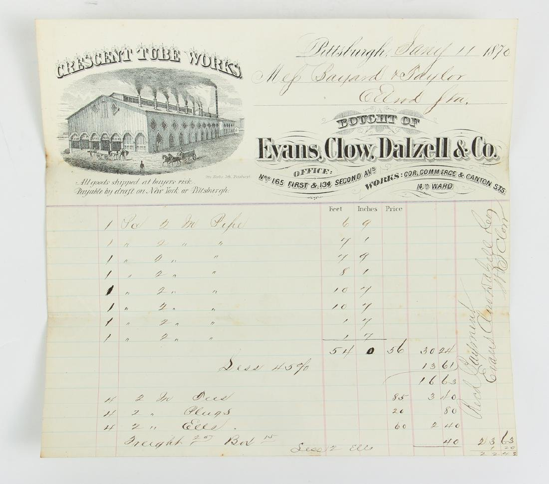 Eighteen Pittsburgh Related 19th Century Invoices - 5
