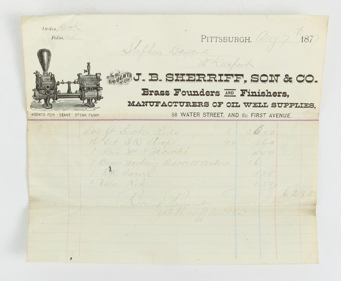 Eighteen Pittsburgh Related 19th Century Invoices - 6