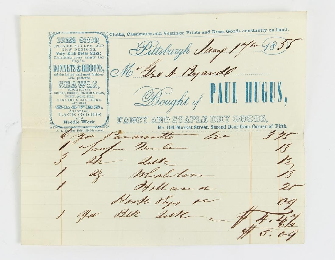 Eighteen Pittsburgh Related 19th Century Invoices - 7