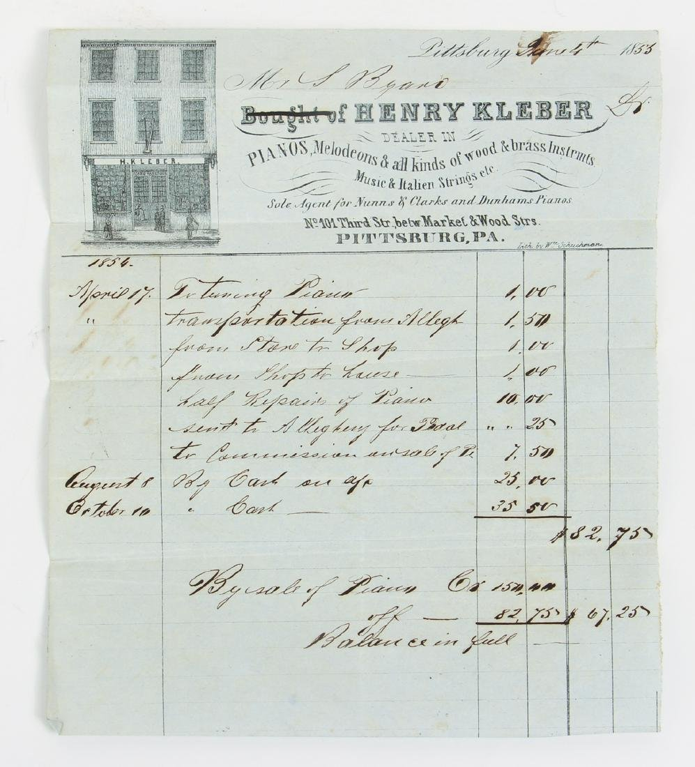 Eighteen Pittsburgh Related 19th Century Invoices - 8