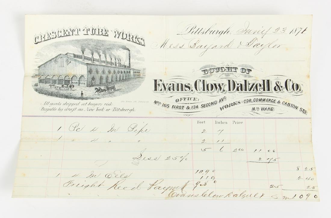 Eighteen Pittsburgh Related 19th Century Invoices - 9