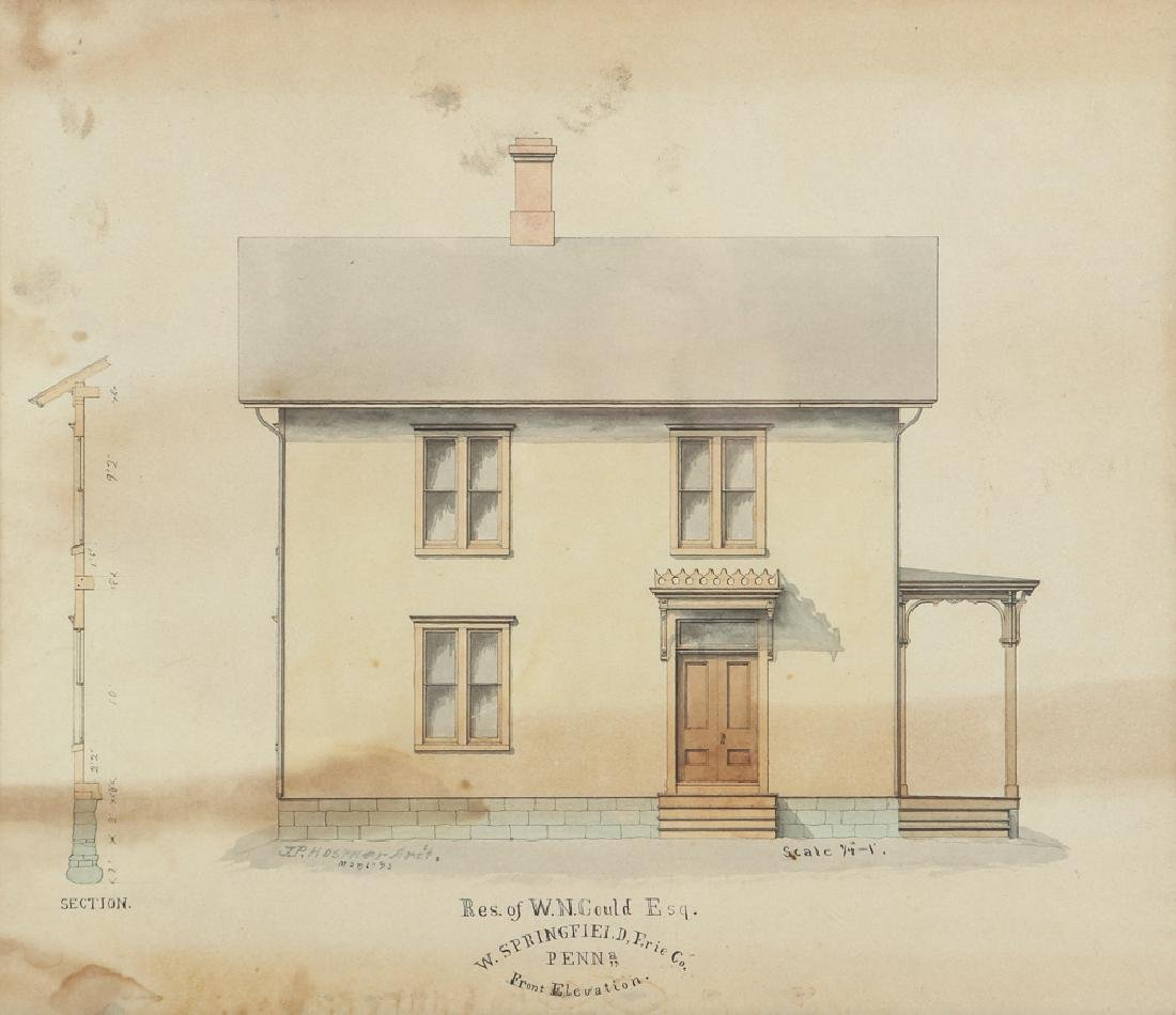 Architects Watercolor Depiction of House