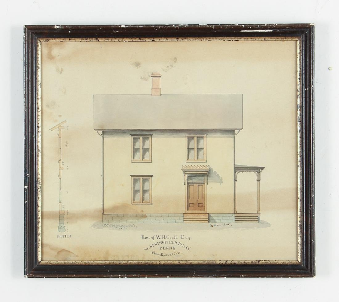 Architects Watercolor Depiction of House - 2