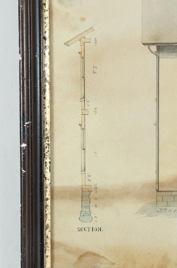 Architects Watercolor Depiction of House - 5