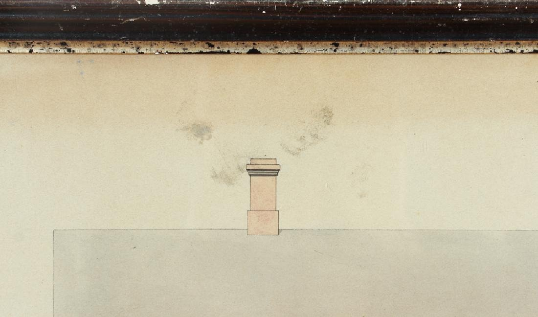 Architects Watercolor Depiction of House - 6