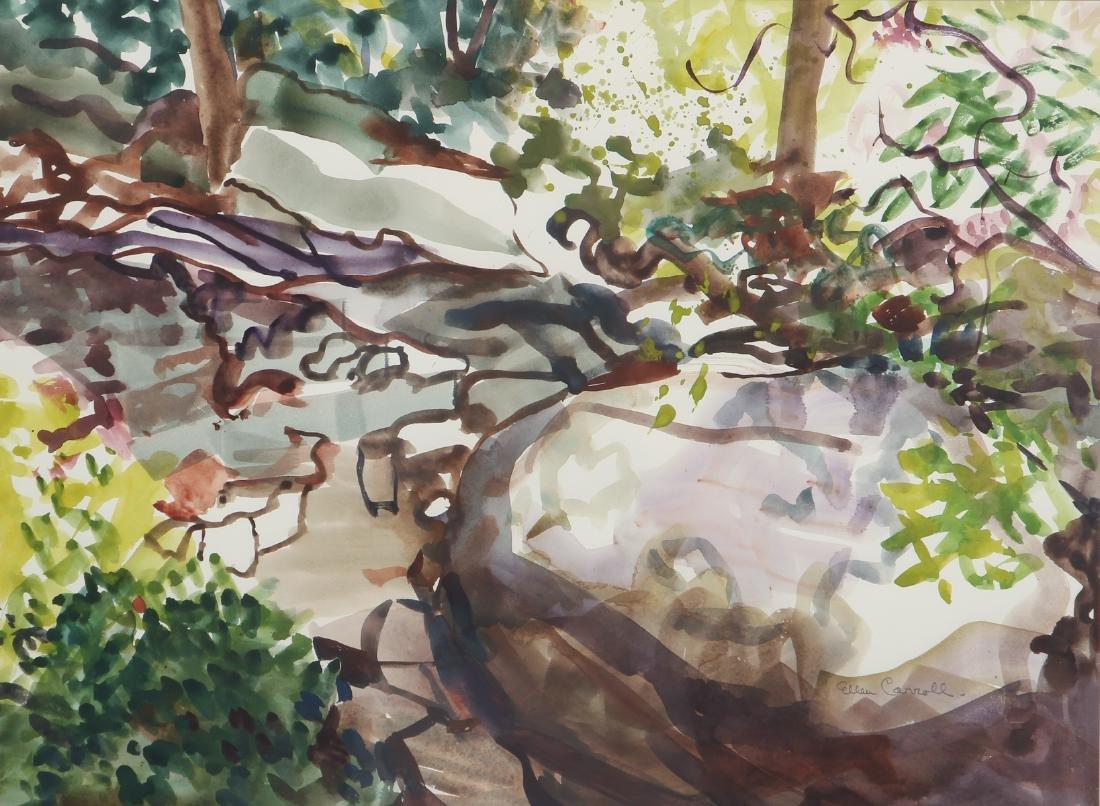 Ellen Carrol expressionist landscape watercolor