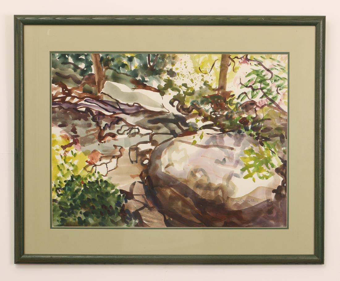 Ellen Carrol expressionist landscape watercolor - 2