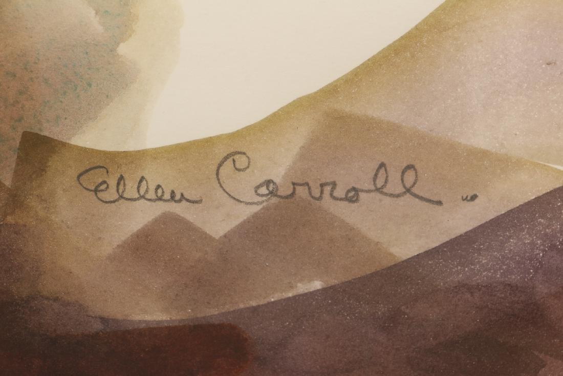 Ellen Carrol expressionist landscape watercolor - 3