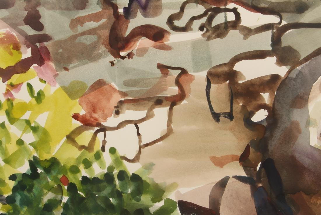 Ellen Carrol expressionist landscape watercolor - 4