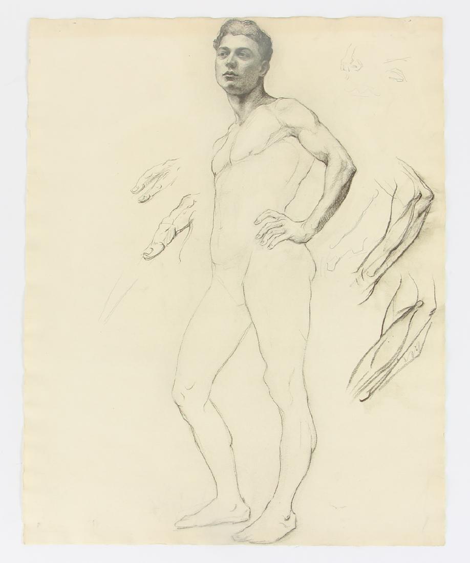 5 Margaret J. Ferguson Nude Figure Studies, 1920's