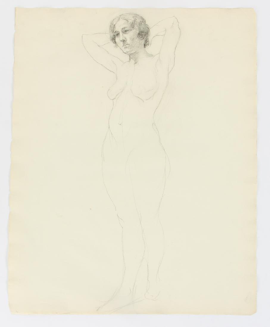 5 Margaret J. Ferguson Nude Figure Studies, 1920's - 3