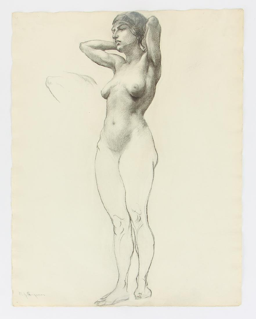 5 Margaret J. Ferguson Nude Figure Studies, 1920's - 5