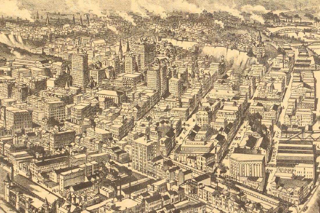 Fowler and Moyer Pittsburgh Birds Eye View Reproduction - 8