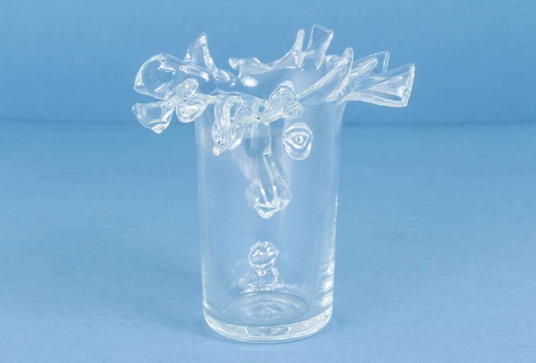 Unusual Art Glass Vase Manner of Picasso - 2