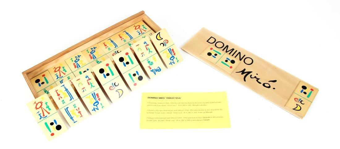 Joan Miro Parleur Seul Domino Set