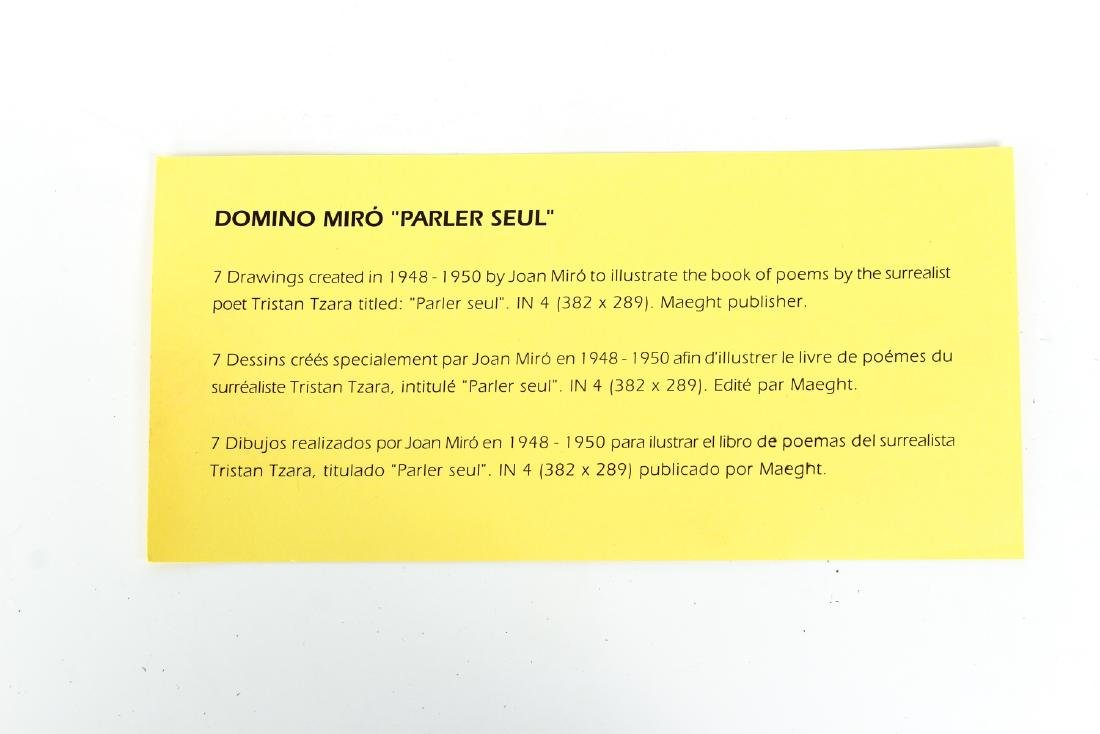 Joan Miro Parleur Seul Domino Set - 5