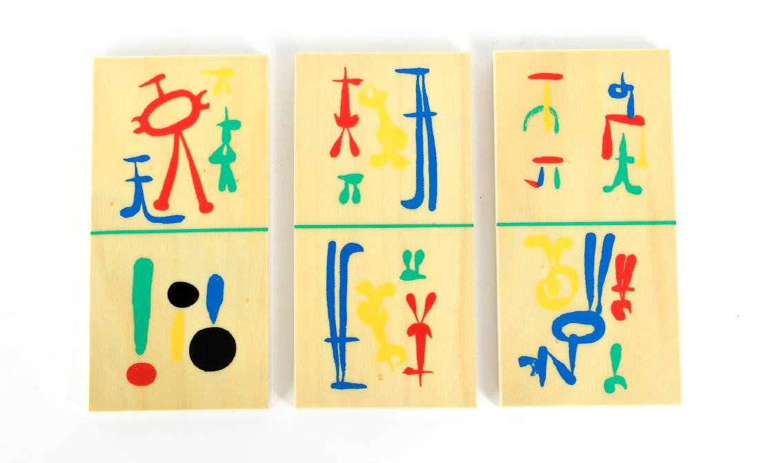Joan Miro Parleur Seul Domino Set - 6
