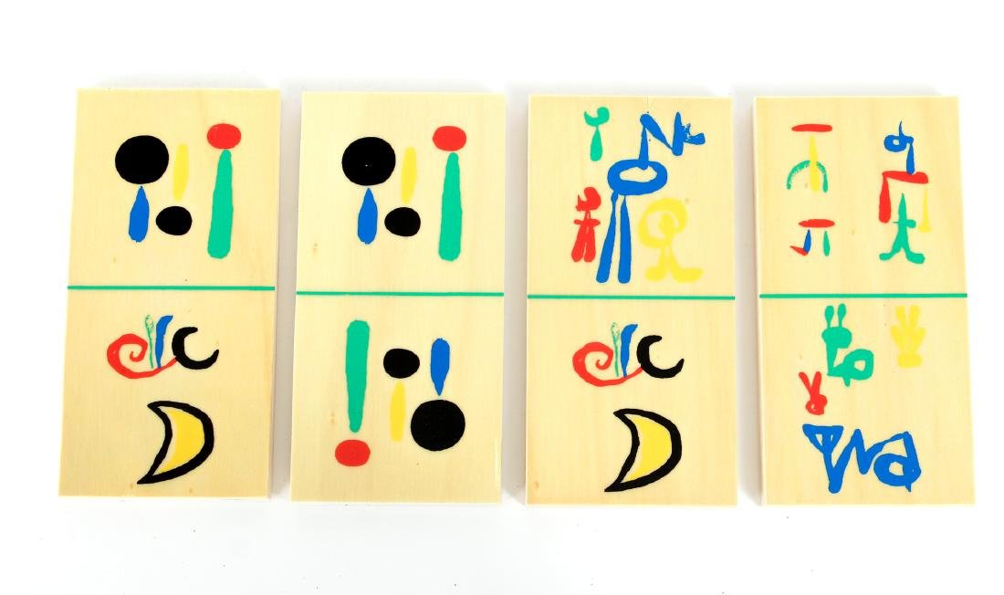 Joan Miro Parleur Seul Domino Set - 7