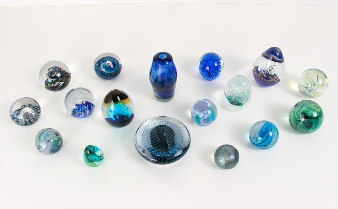 Group of Contemporary Art Glass Paperweights