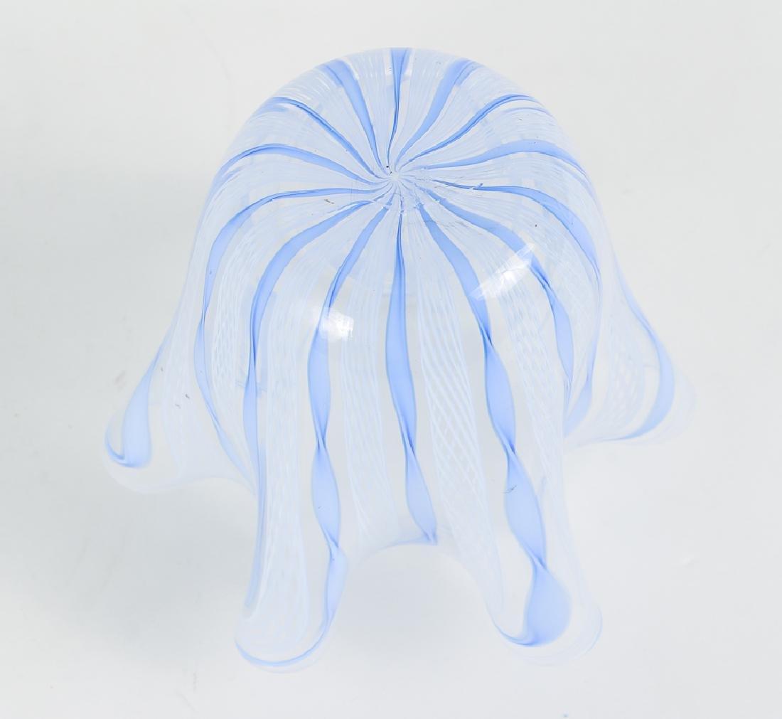 2 Italian Glass Vases, one latticino - 10
