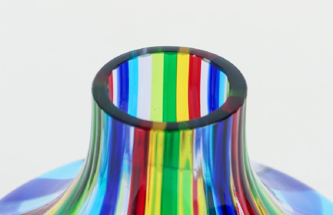 2 Italian Glass Vases, one latticino - 4