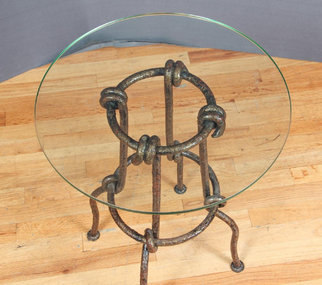 Studio Made Contemporary Metal and Glass Table - 2