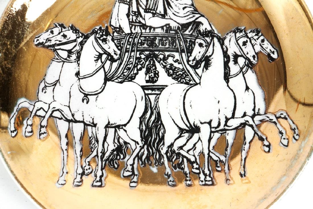 Eight Matching Fornasetti Chariot Themed Plates - 5