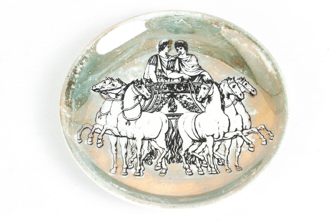 Eight Matching Fornasetti Chariot Themed Plates - 6