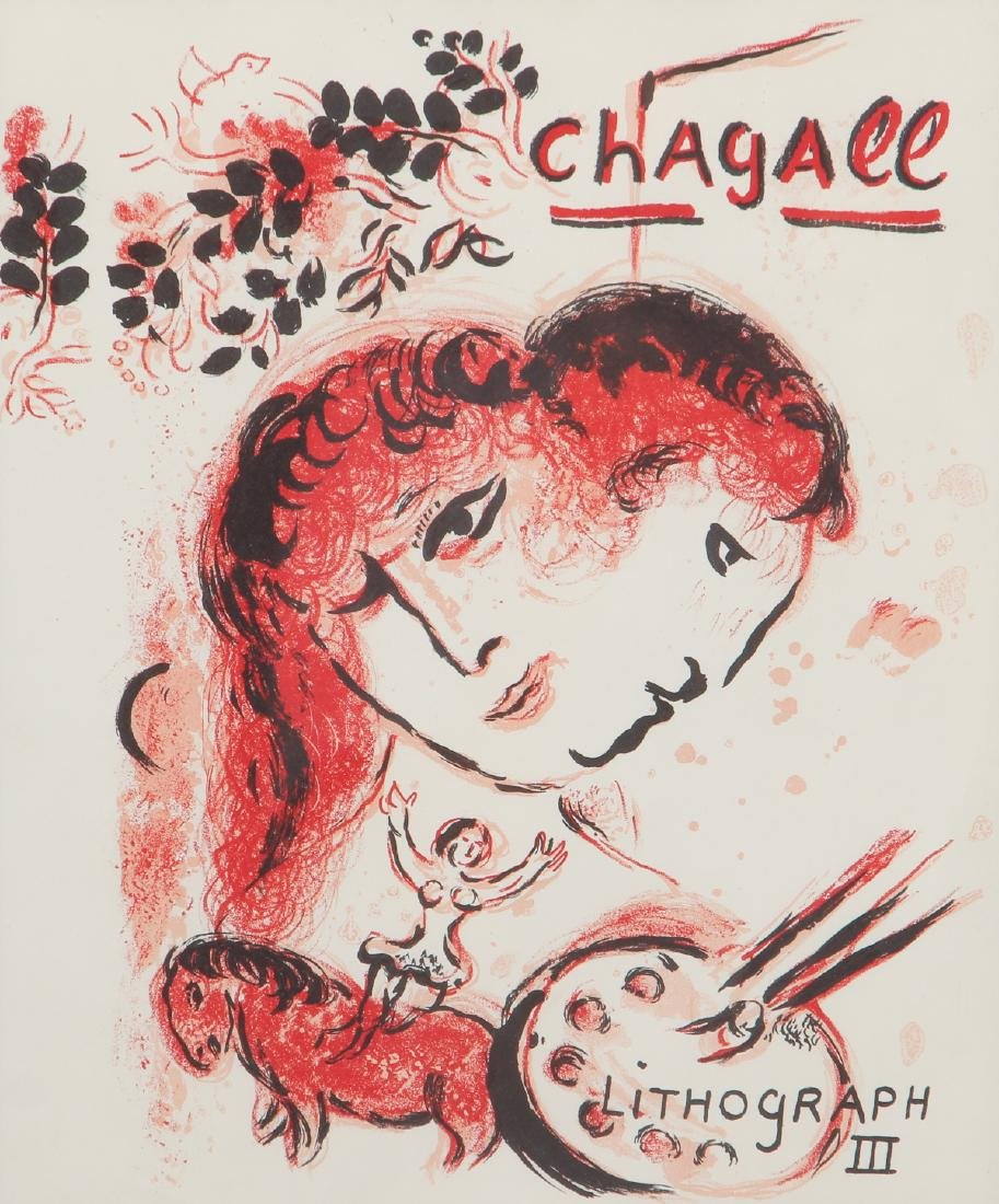 CHAGALL, MOURLOT, PORTFOLIO COVER, for LITHOGRAPH III