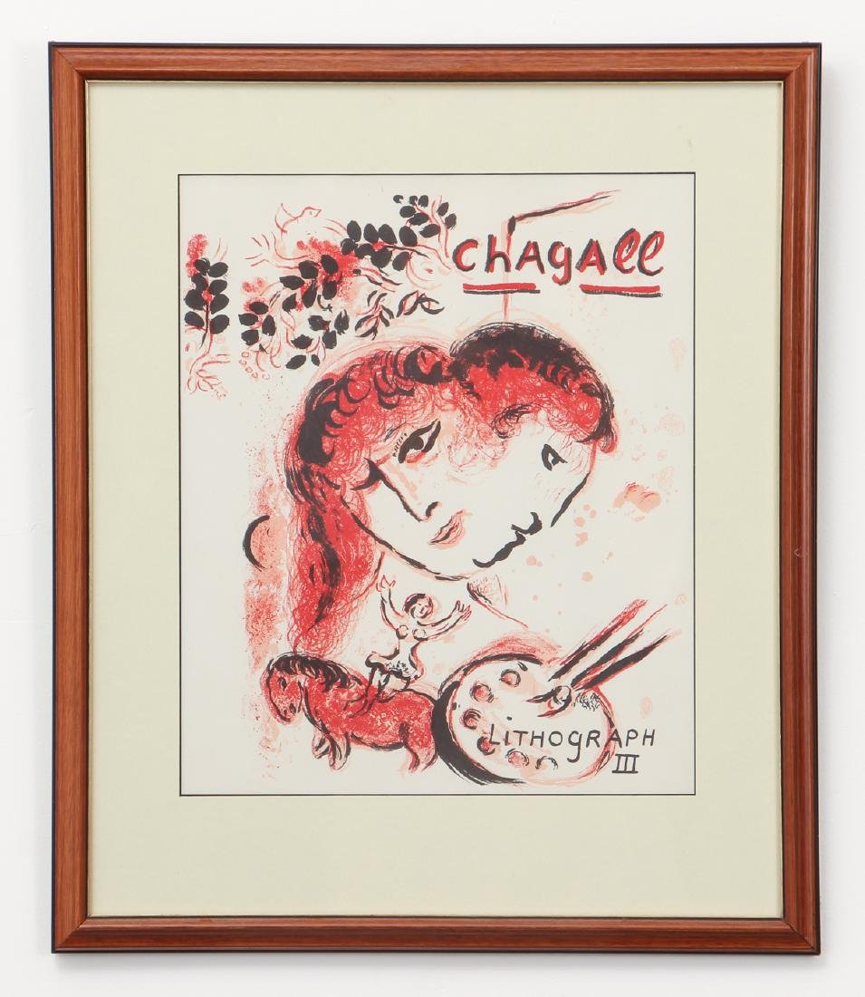 CHAGALL, MOURLOT, PORTFOLIO COVER, for LITHOGRAPH III - 2