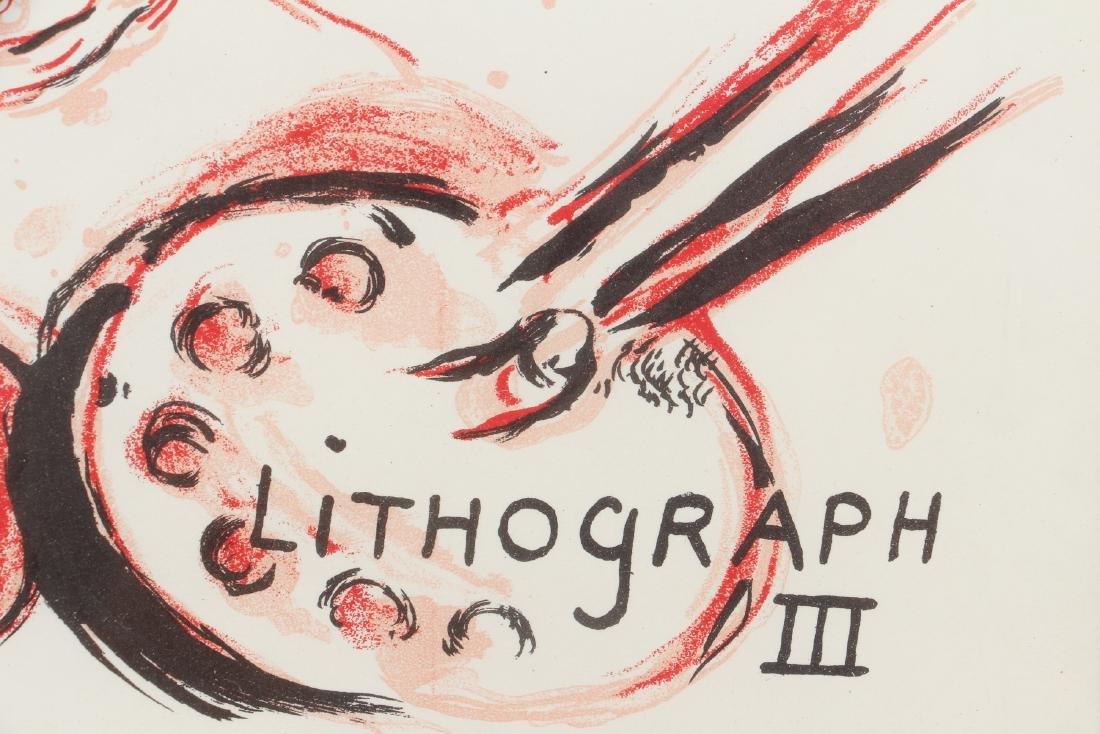 CHAGALL, MOURLOT, PORTFOLIO COVER, for LITHOGRAPH III - 4