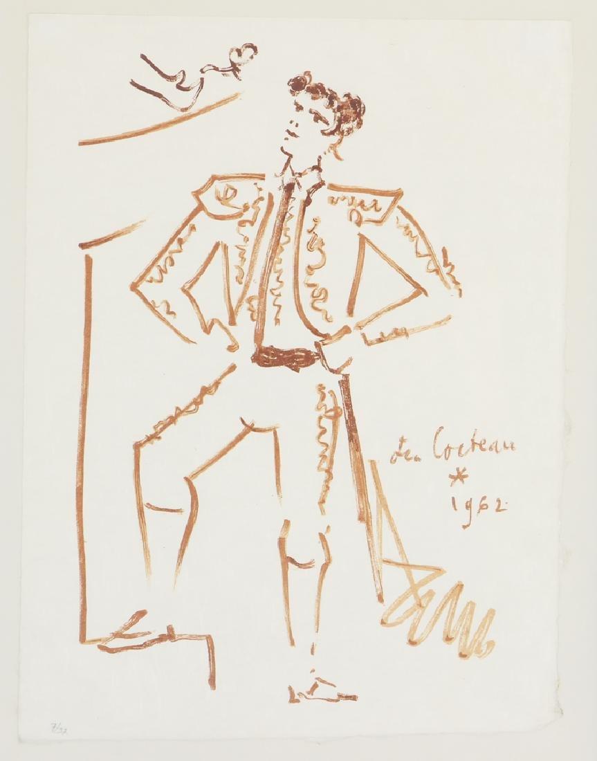 Jean Cocteau lithograph of a Toreador