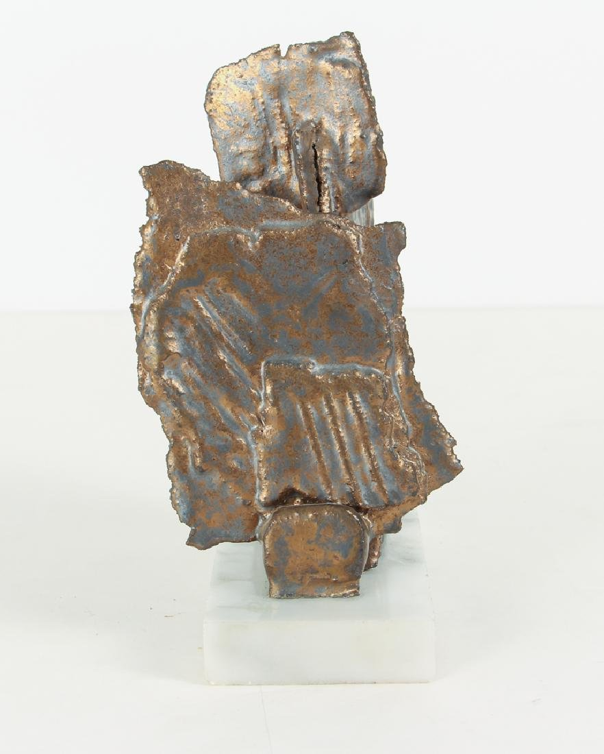 Elsa Este Welded Metal Sculpture on Marble Base - 2
