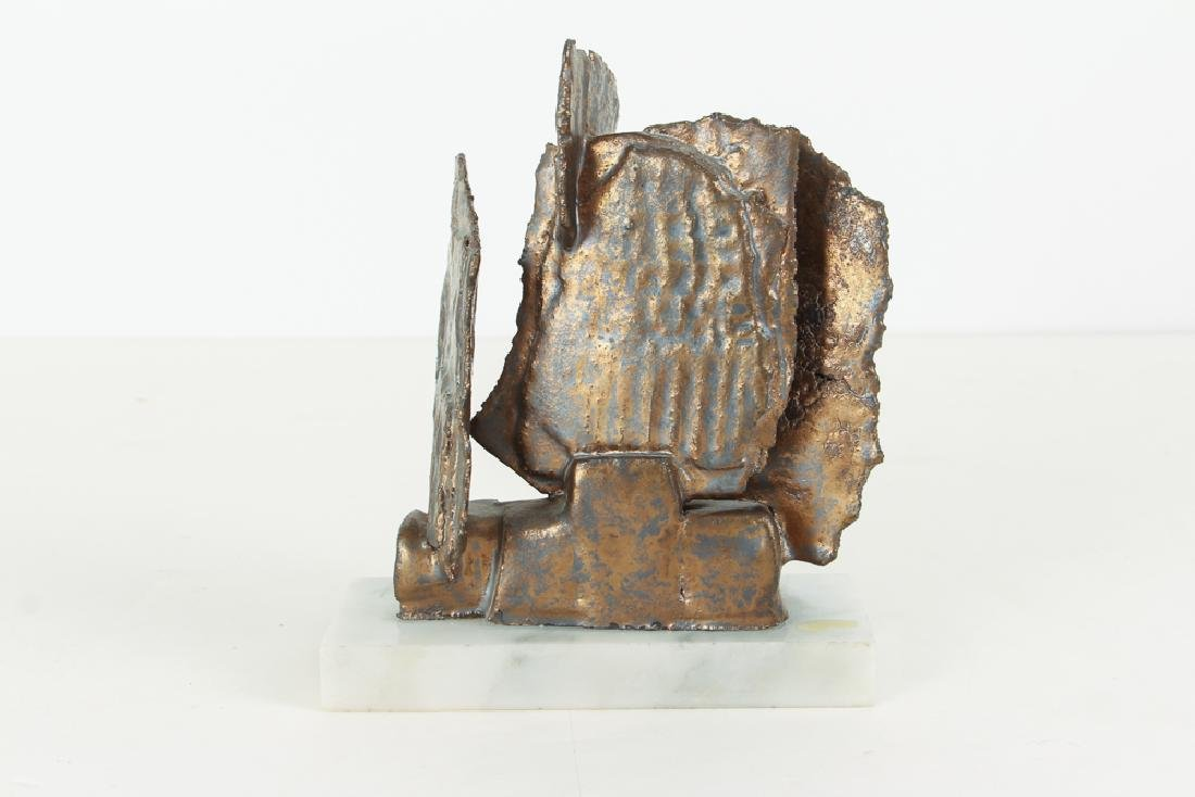 Elsa Este Welded Metal Sculpture on Marble Base - 3