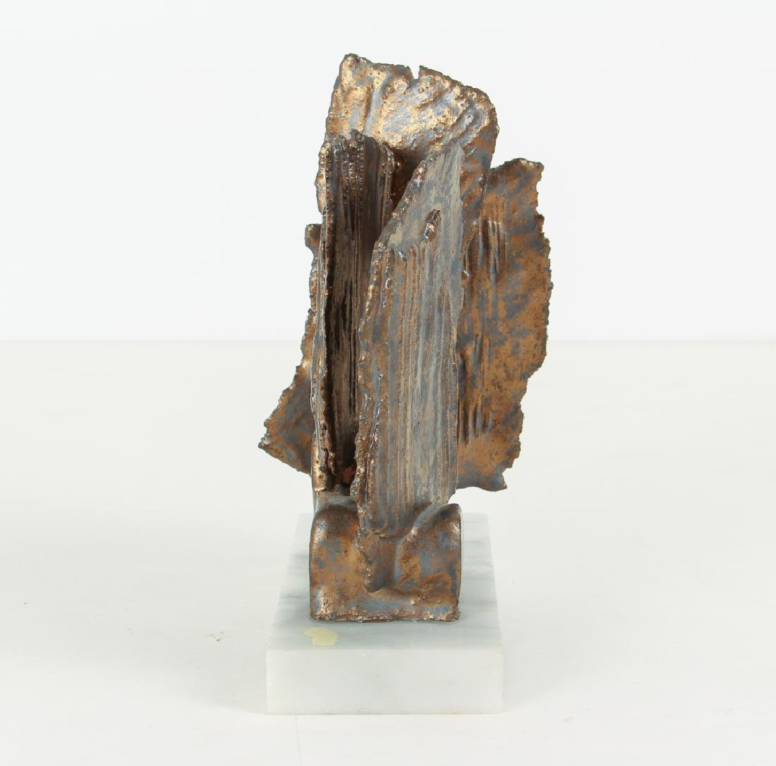 Elsa Este Welded Metal Sculpture on Marble Base - 4