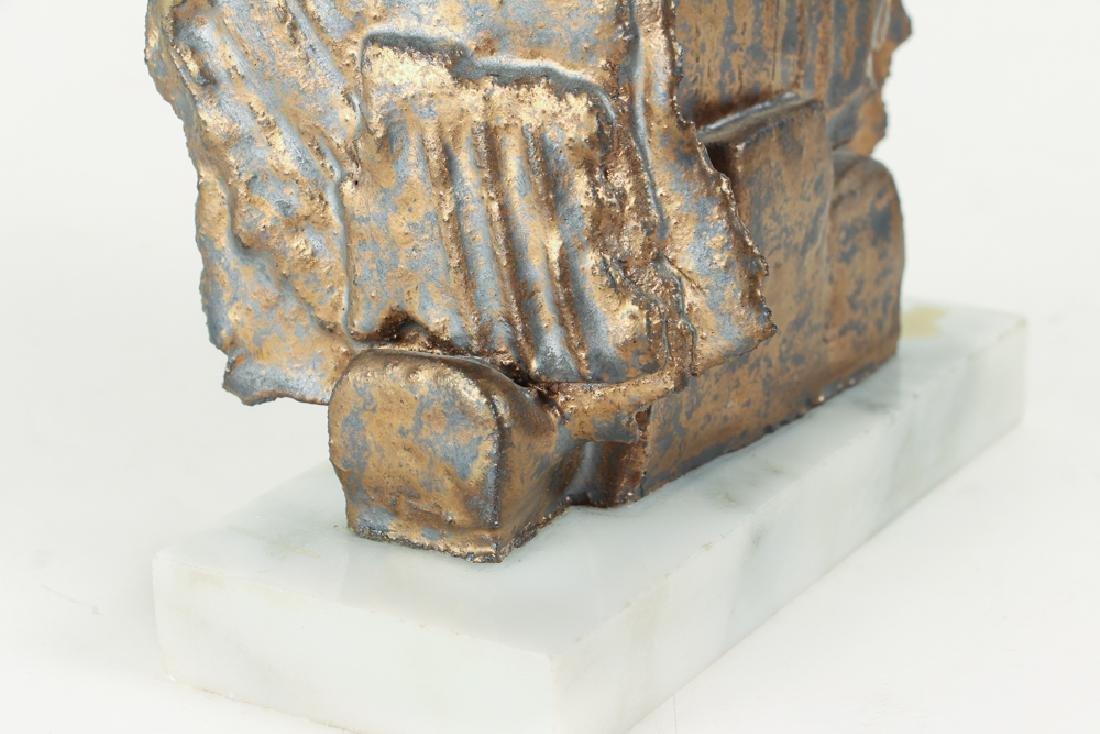 Elsa Este Welded Metal Sculpture on Marble Base - 7