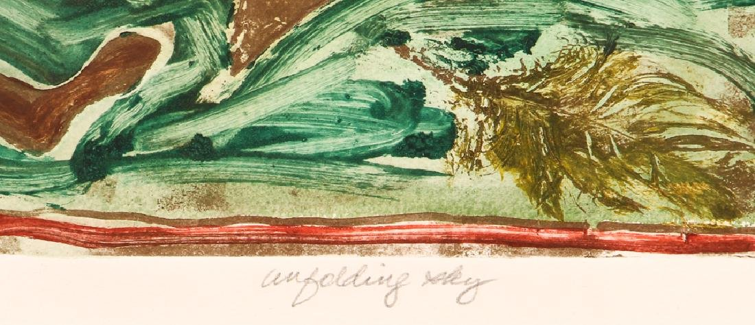 Lely monotype on paper Unfolding Sky - 4